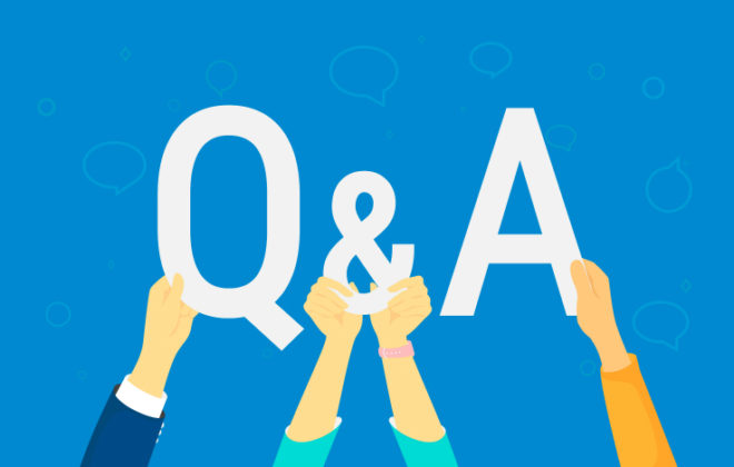 A Q&A graphic for Ben Morris UMB Healthcare Services president