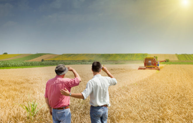 Two farmers discuss what makes a good agriculture bank