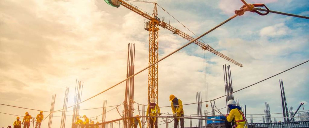 Workers laboring on opportunity zone projects